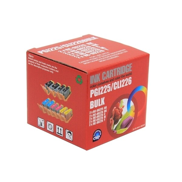 INSTEN PGI-225Bk/ CLI-226 Compatible 10-ink Cartridge Set