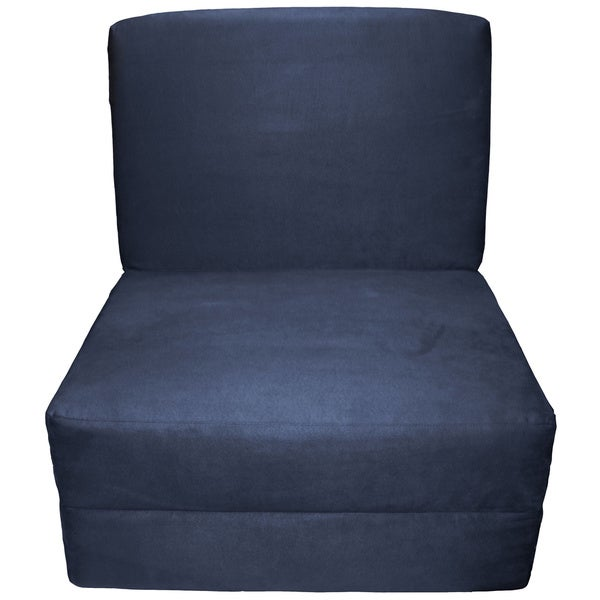 Nomad Adult Microfiber Suede Foam Sleeper Chair Bed   Free Shipping Today    Overstock.com   15672610