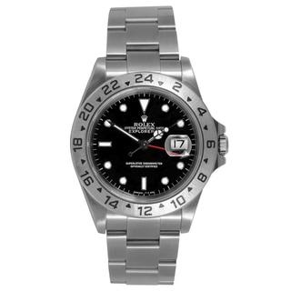 Pre-owned Rolex Mens Explorer 2 Black Dial Automatic Watch