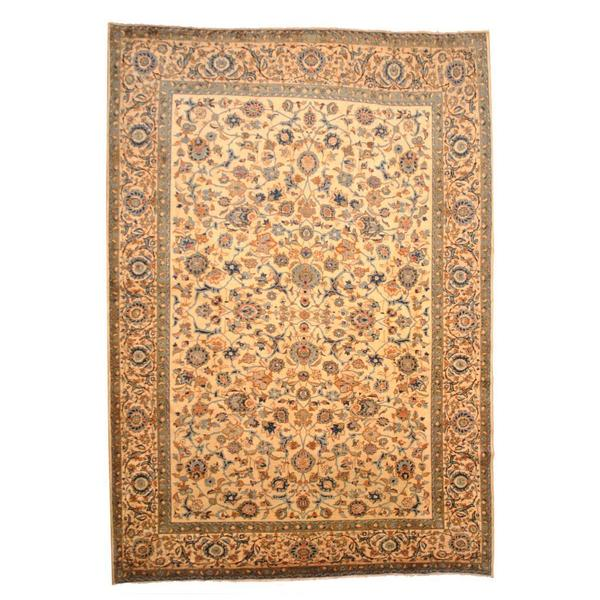 Hand Knotted Persian Isfahan Wool Area Rug: Shop Herat Oriental Persian Hand-knotted Isfahan Ivory