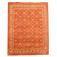 Herat Oriental Persian Hand-knotted 1940s Semi-antique Mahal Wool Rug (9'6 x 12'2) - 9'6 x 12'2