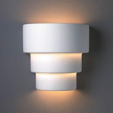 Porch & Den Hornshuh Tiered Ceramic 2-light Small Sconce