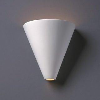 Cut Cone Ceramic 1-light Sconce