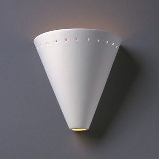 Cut Cone With Perfs Ceramic 1-light Sconce