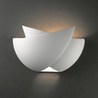 Justice Design Group 1-light Fema Ceramic Sconce