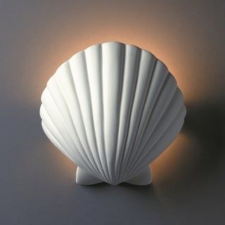 Justice Design Group 1-light ADA Scallop Shell Ceramic Sconce