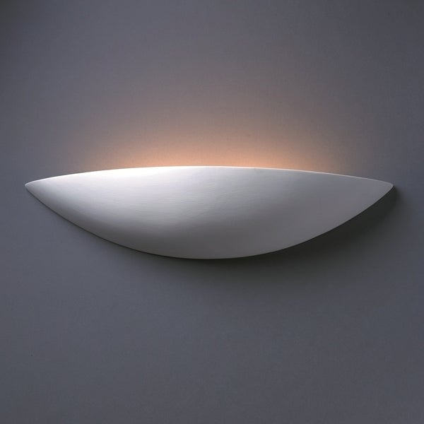 Large Sliver Ceramic 2-light Sconce
