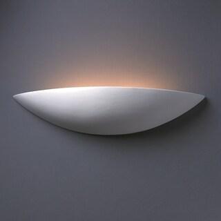 Large Sliver Ceramic 2-light Sconce