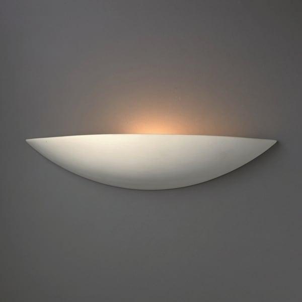 Justice Design Group 1-light ADA Small Sliver Ceramic Sconce