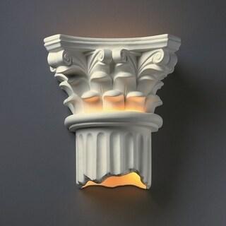 Oliver & James Fuchs Ceramic 2-light Column Sconce
