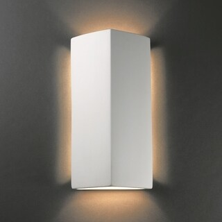 Justice Design Group 2-light ADA Peaked Rectangle Ceramic Sconce