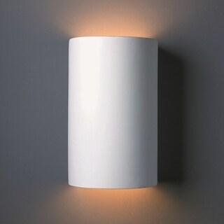 Justice Design Group 2-light ADA Large Cylinder Multi Directional Ceramic Sconce