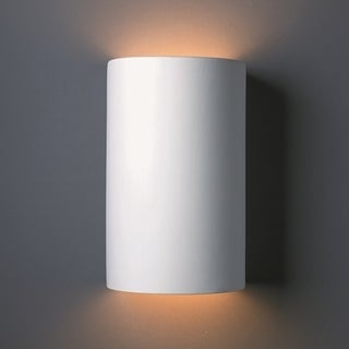 Justice Design Group 2 Light ADA Large Cylinder Multi Directional Ceramic  Sconce