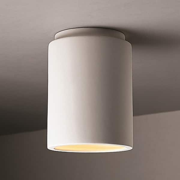 1 Light Cylinder Ceramic Flush Mount