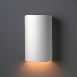 Closed Top Cylinder Ceramic 1-light Sconce