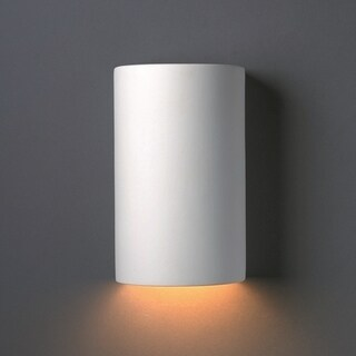 Closed Top Cylinder Outdoor Ceramic 1-light Sconce