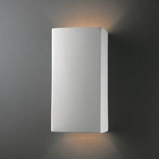 Multi Directional Rectanglular 2-light Ceramic Sconce