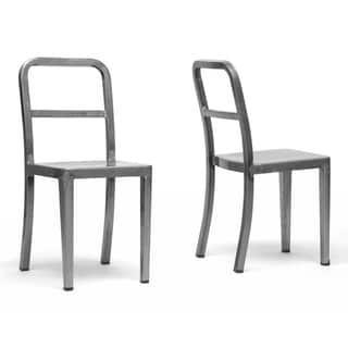 Echo Gunmetal Modern Dining Chairs (Set of 2)