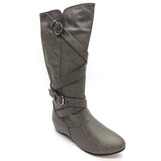 Blue Women's 'Lee' Grey Flat Bottom Boots - Free Shipping On ...