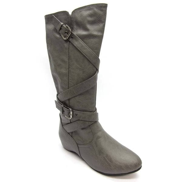 blue s grey flat bottom boots free shipping