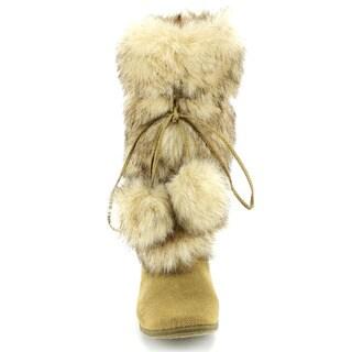Blossom Women's 'Tara-Hi' Faux Fur Mid-calf Boots