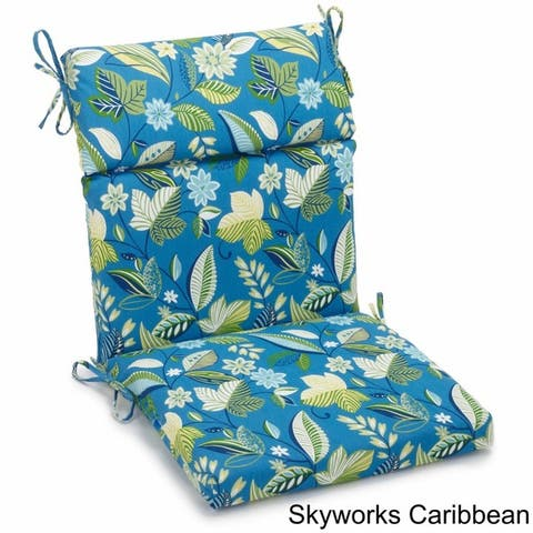 Blazing Needles 20 X 42 Indoor/Outdoor Sectioned Chair Cushion