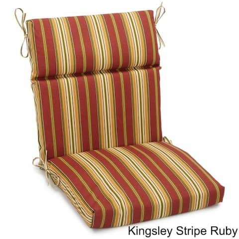 Blazing Needles Indoor/Outdoor Sectioned Chair Cushion