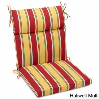 "Blazing Needles 42 x 20-inch Designer Outdoor Chair Cushion - 42"" x 20"" (Option: Haliwell Multi)"