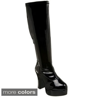 Funtasma Women's 'Exotica-2000X' Wide Width Chunky Heel Gogo Boots