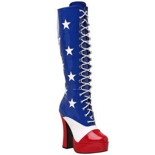 Funtasma Women's 'Electra-2030' America Lace-up Knee-high Platform Boots