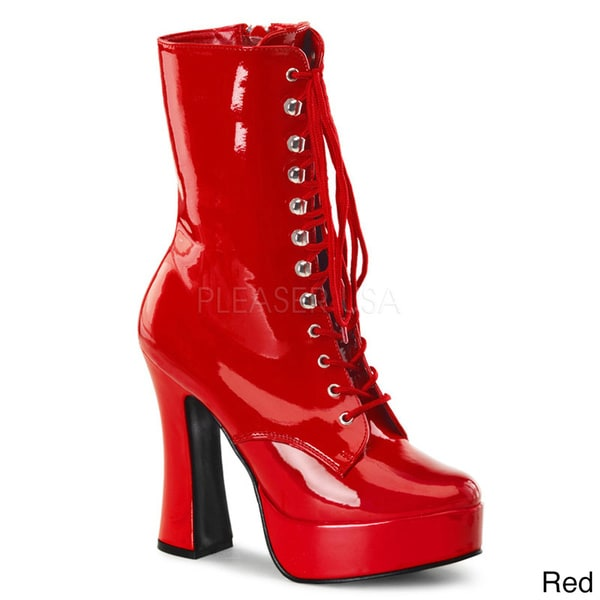 Pleaser Women's 'Electra-1020' Lace-up Mid-calf Platform Boots