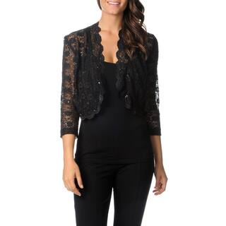 R & M Richards Women's Sheer Lace Shrug|https://ak1.ostkcdn.com/images/products/8366296/P15673002.jpg?impolicy=medium