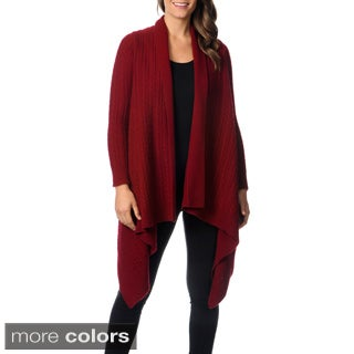 Ply Cashmere Women's Long Sleeve Waterfall Cardigan
