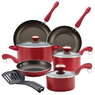 Paula Deen Signature Dishwasher Safe Nonstick 11-piece Red Cookware Set