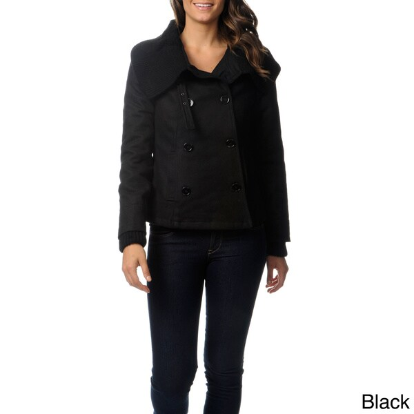 Mo-Ka Women's Wool Pea Coat