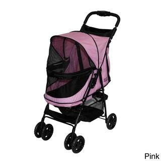 Pet Gear Happy Trails No-zip Pet Stroller (Option: Pink)