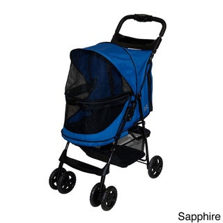 Pet Gear Happy Trails No-zip Pet Stroller (Blue)