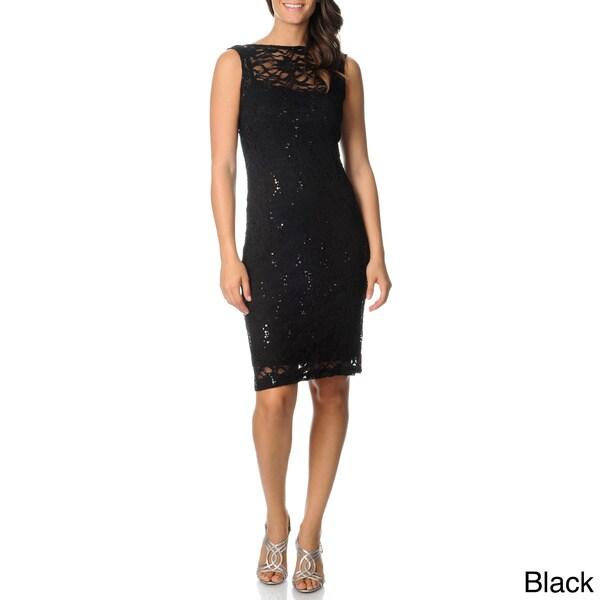 Onyx Nite Women's Sleeveless Lace Dress