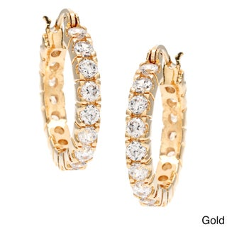 Simon Frank 3.52ct. Equal Diamond Weight Bright White CZ Hoop Earrings