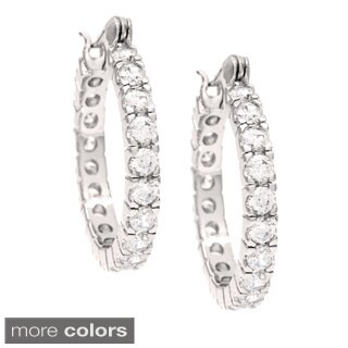 Simon Frank 4.45ct. Equal Diamond Weight CZ Infinity Hoop Earrings