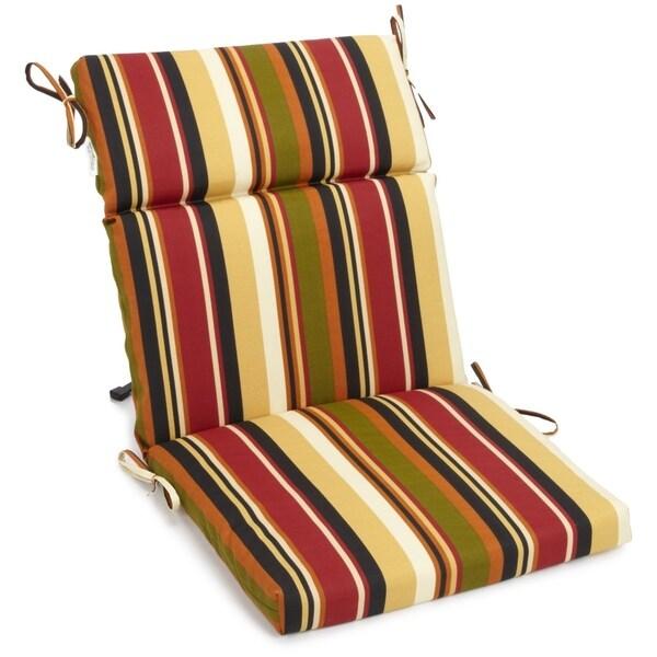 "Blazing Needles Indoor/Outdoor Three-Section Chair Cushion - 38"" x 18"""