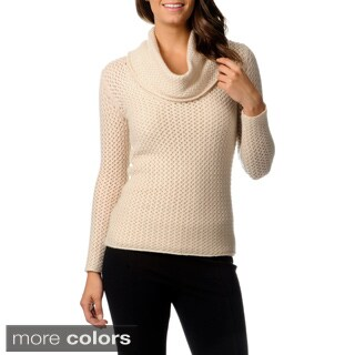 Ply Cashmere Women's Cashmere Cowl Neck Tunic