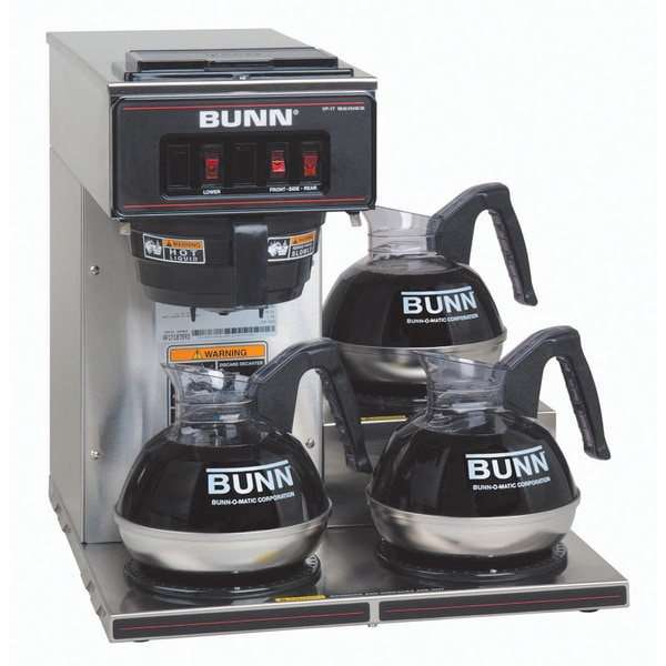 Bunn Coffee Maker Overstock : Bunn VP17-3 SS Pourover Commercial Coffee Brewer - Free Shipping Today - Overstock.com - 15673085
