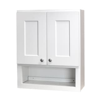 white shaker bathroom wall cabinet 15673154 overstockcom shopping big discounts on bath cabinets storage bathroom storage wall cabinets