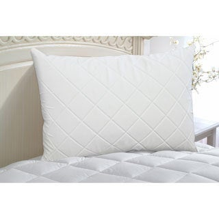 Rest Remedy Quilted Memory Foam Zippered Bed Pillow Enhancer (Set of 2)