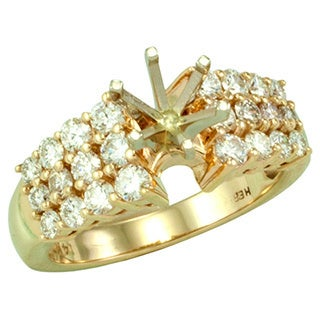 14kt White or Yellow Gold 1.00ct TDW Diamond Semi Mount Engagement Ring (More options available)