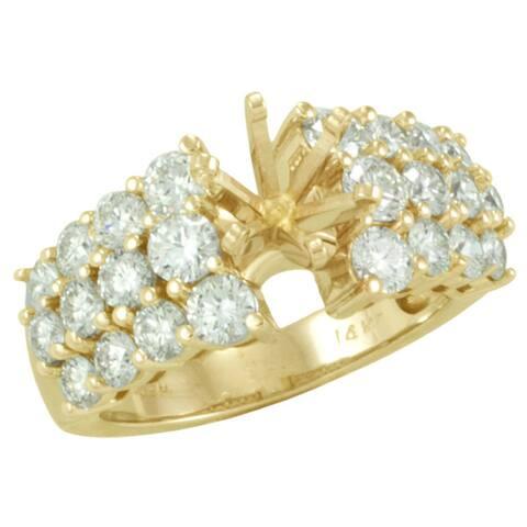 14kt White or Yellow Gold 2ct TDW Diamond Semi-Mount Engagement Ring