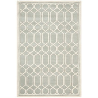 Timeless Safavieh Handmade Moroccan Chatham Gray/ Ivory Wool Rug (5' x 8')