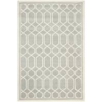 Timeless Safavieh Handmade Moroccan Chatham Gray/ Ivory Wool Rug - 5' x 8'