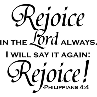 Shop Design On Style Rejoice In The Lord Always Vinyl